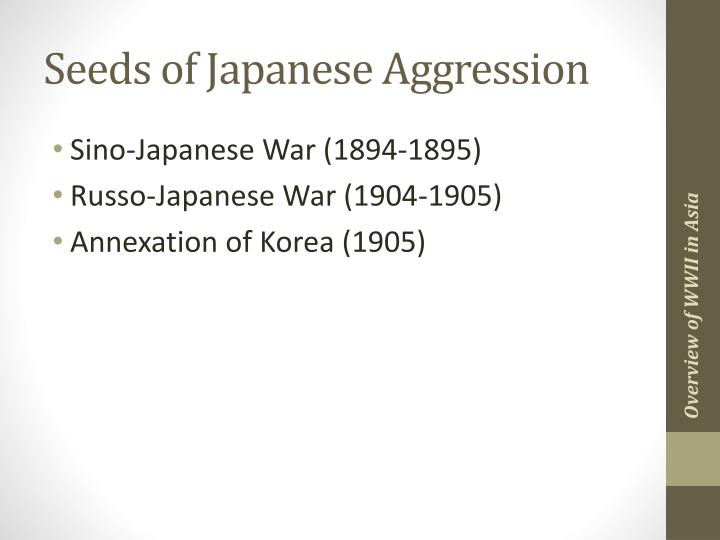 Seeds of Japanese Aggression