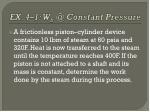 ex 4 1 w b @ constant pressure