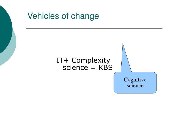 Vehicles of change