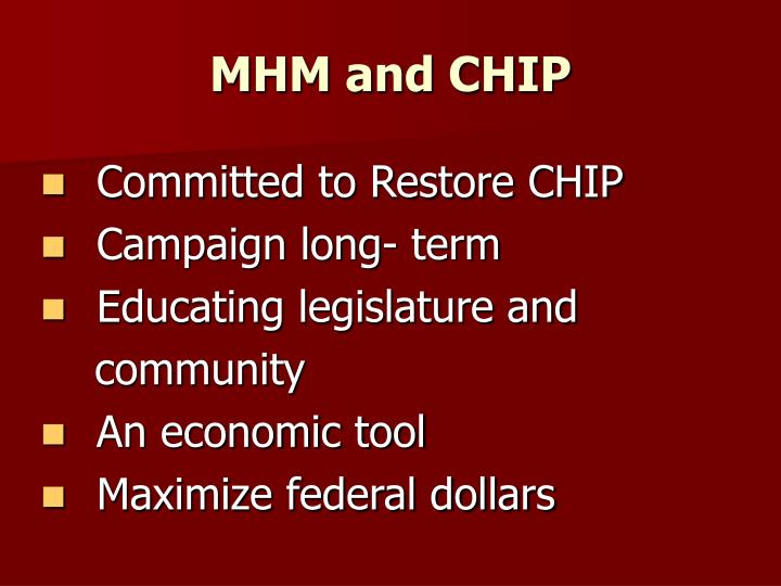 MHM and CHIP