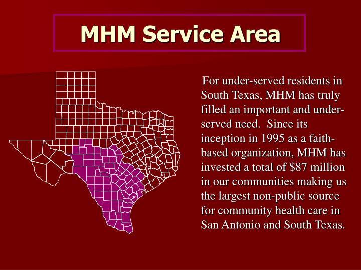 MHM Service Area