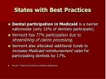 states with best practices