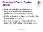 basic input output system bios