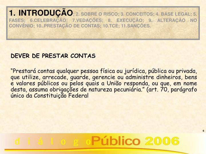 DEVER DE PRESTAR CONTAS