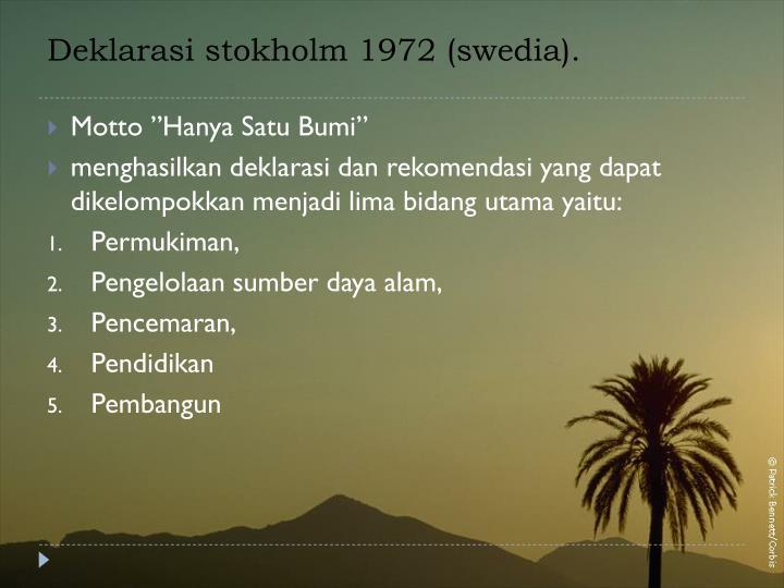 Deklarasi stokholm 1972 (swedia).