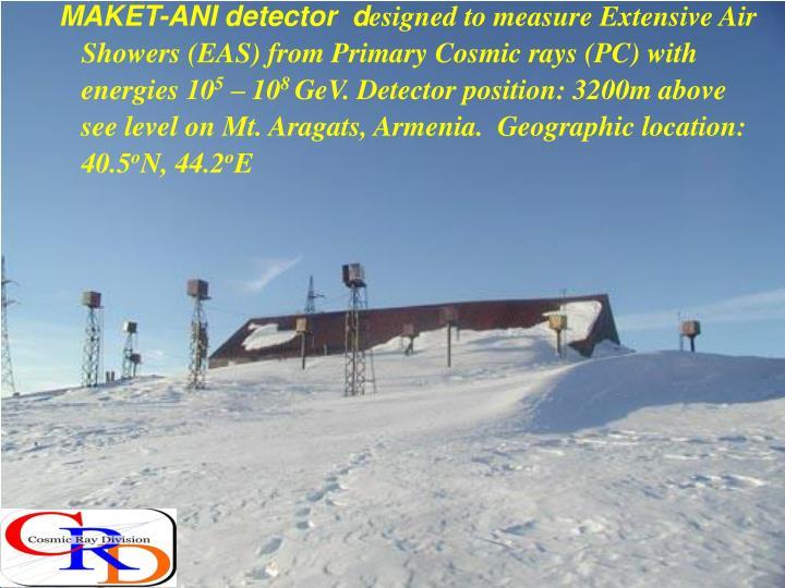 MAKET-ANI detector  d