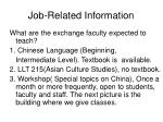 job related information