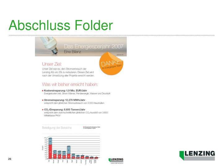 Abschluss Folder
