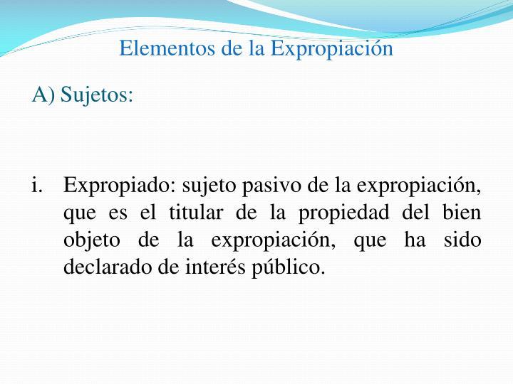 Elementos de la Expropiación