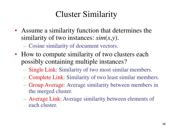 Cluster Similarity