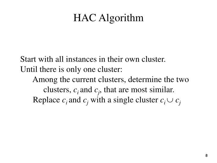 HAC Algorithm