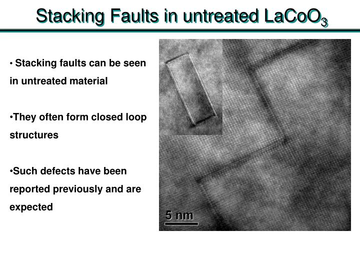 Stacking Faults in untreated