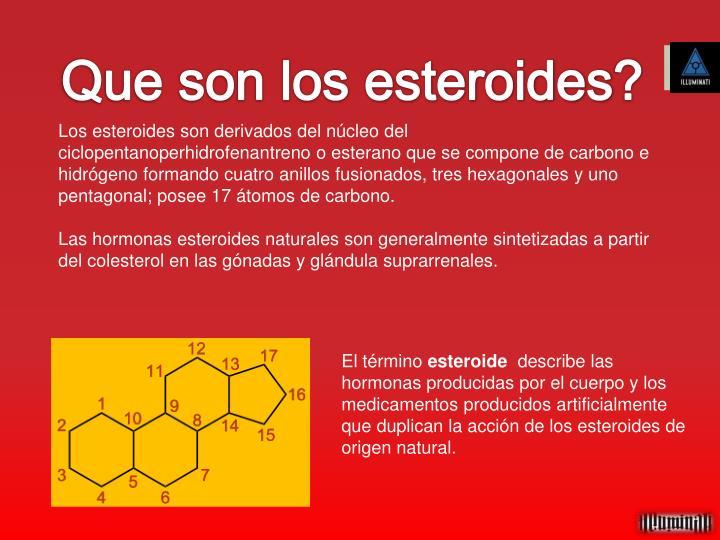 Que son los esteroides