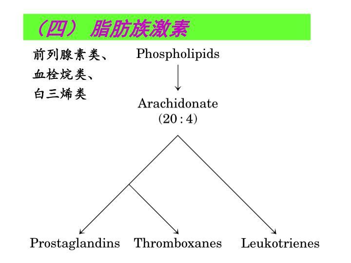 前列腺素类、