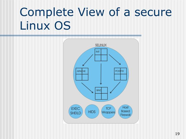 Complete View of a secure Linux OS