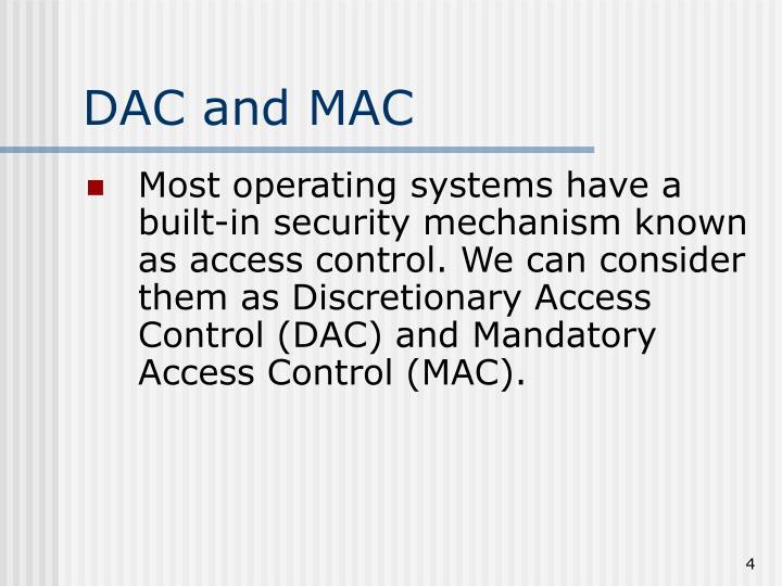 DAC and MAC