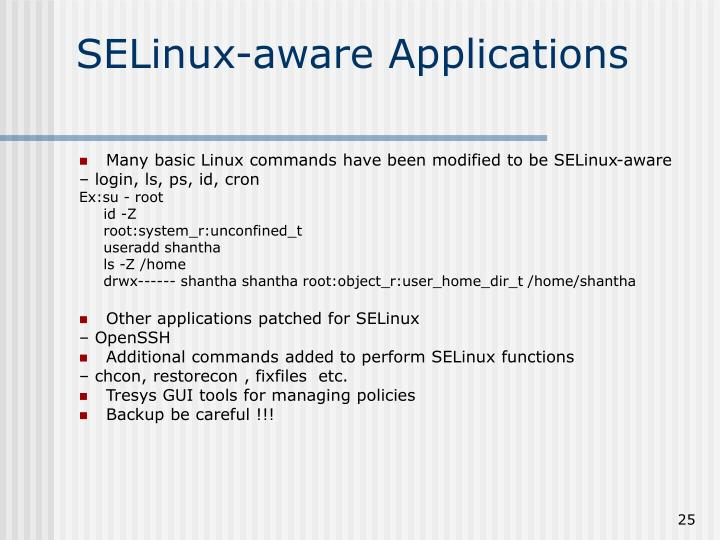 SELinux-aware Applications