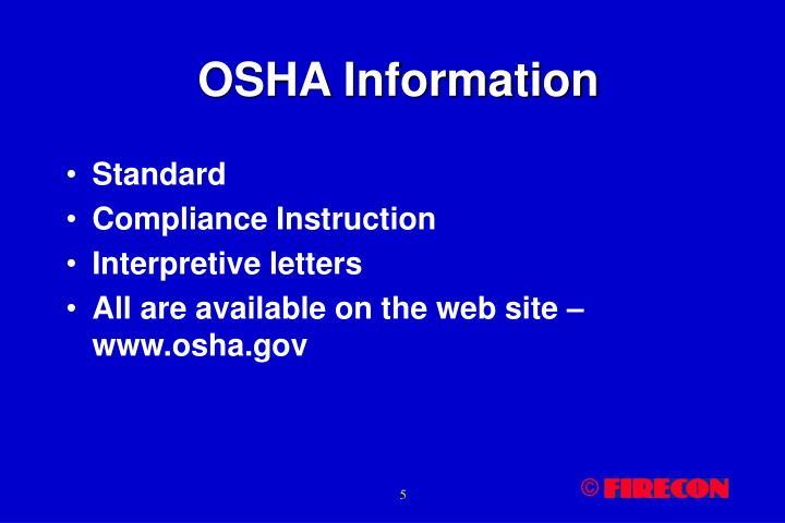 OSHA Information
