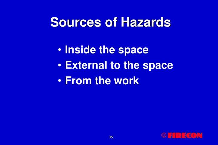 Sources of Hazards