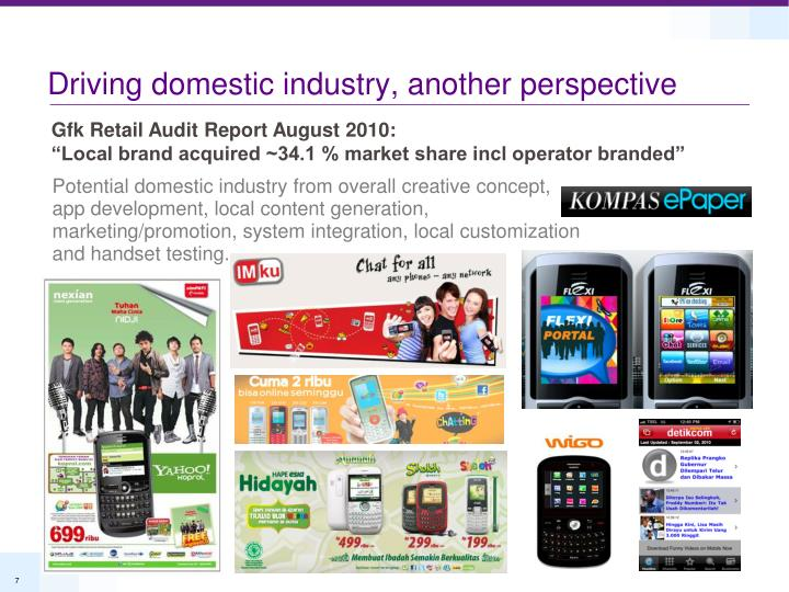 Driving domestic industry, another perspective