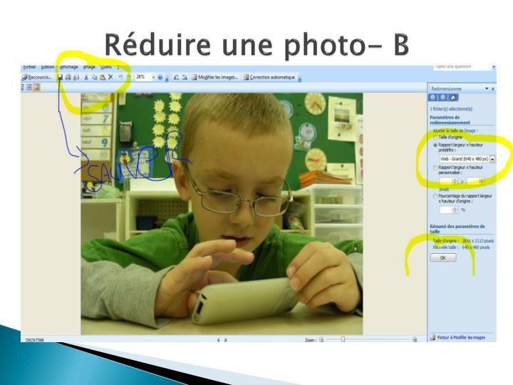 Réduire une photo- B
