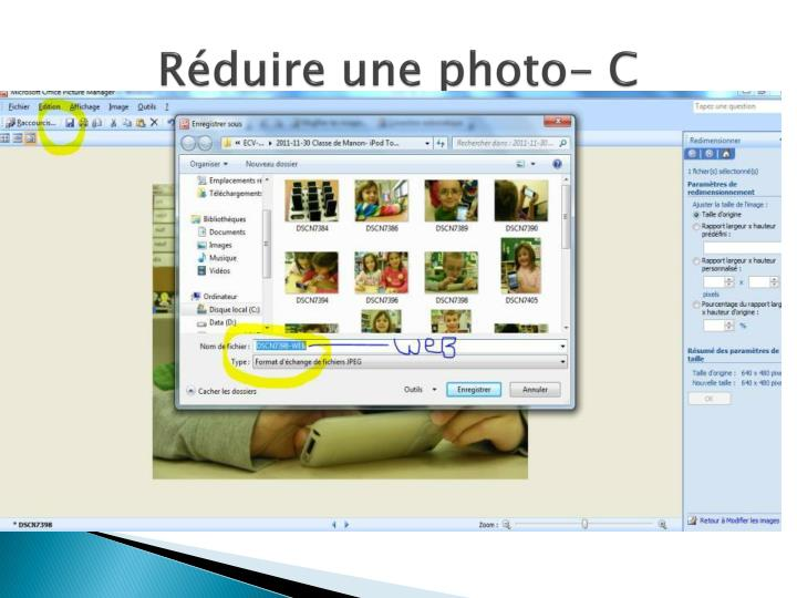 Réduire une photo- C