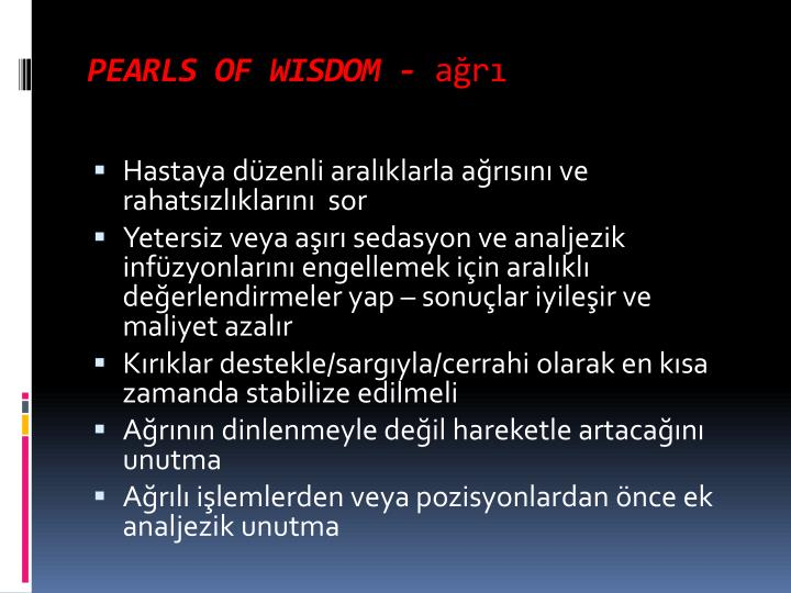 PEARLS OF WISDOM -