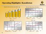 operating highlights kazakhstan