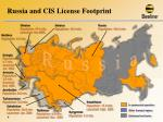 russia and cis license footprint