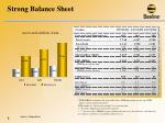 strong balance sheet