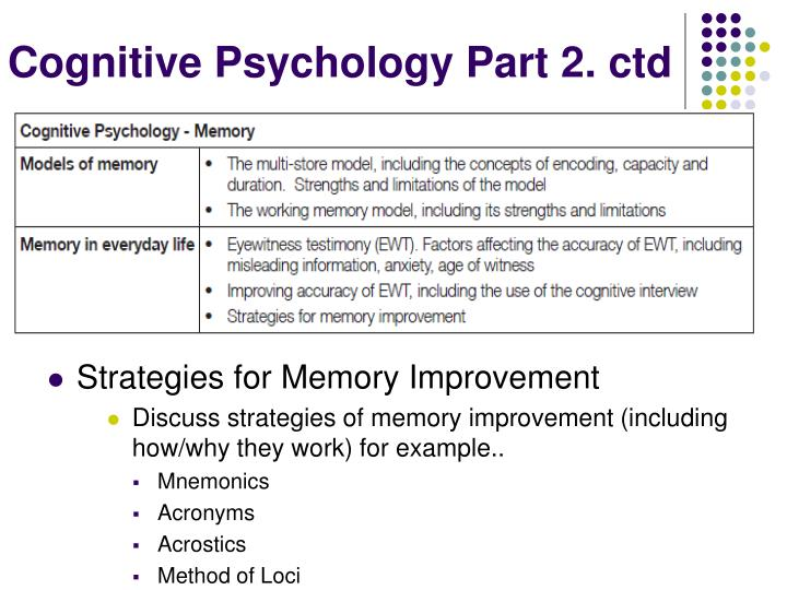 Cognitive Psychology Part 2.