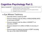 cognitive psychology part 2