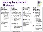 memory improvement strategies1