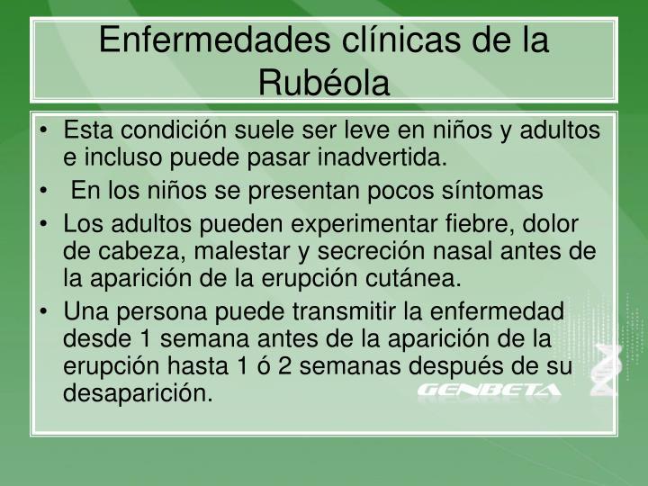 Enfermedades clínicas de la Rubéola