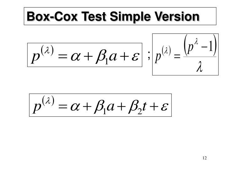 Box-Cox Test Simple Version