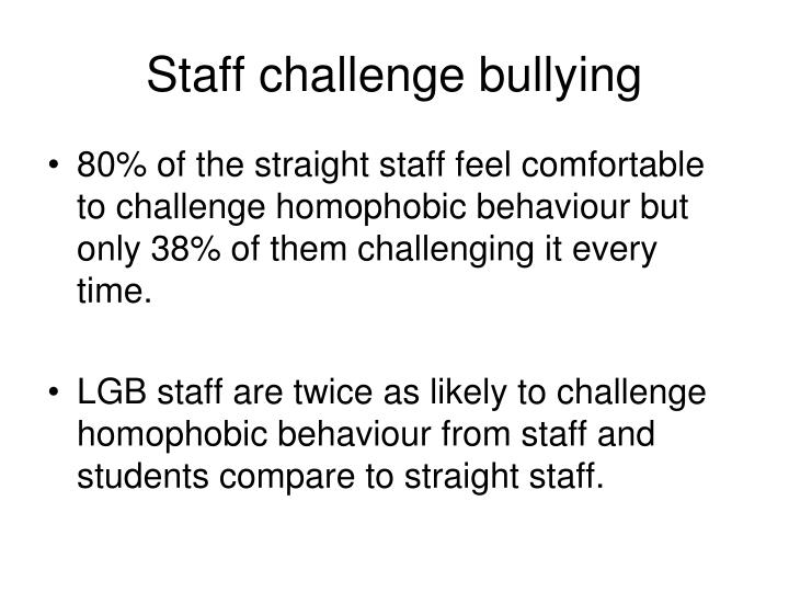 Staff challenge bullying