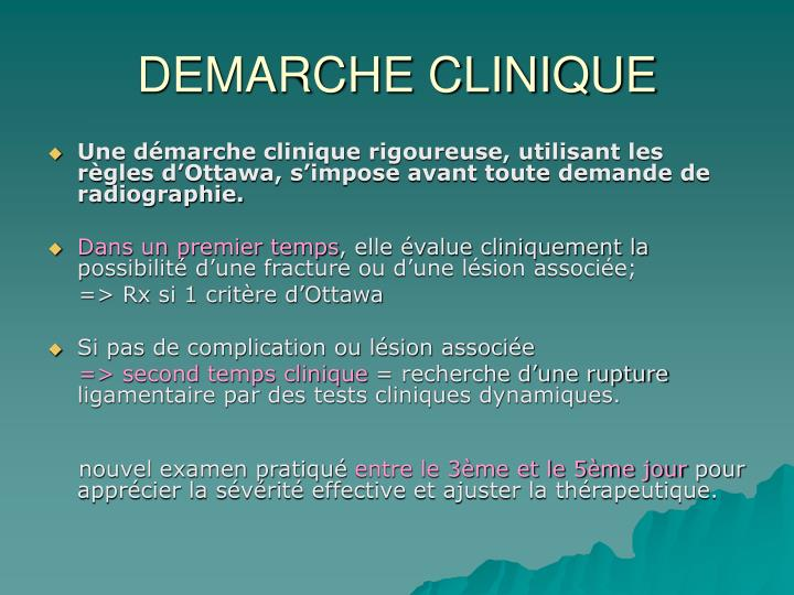 DEMARCHE CLINIQUE