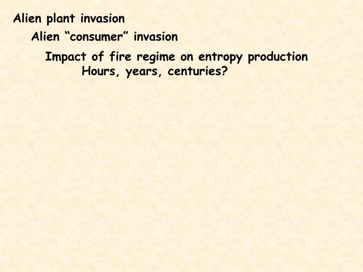 Alien plant invasion