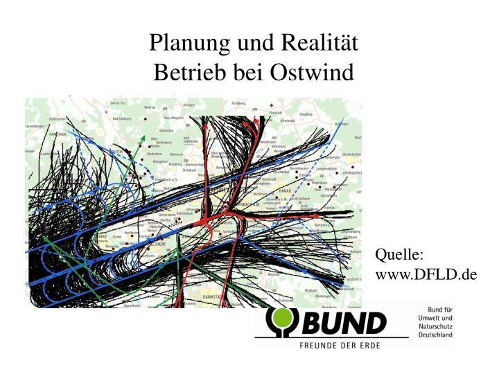 Planung und Realität