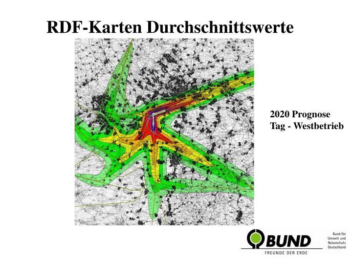 RDF-Karten Durchschnittswerte