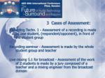 3 cases of assessment