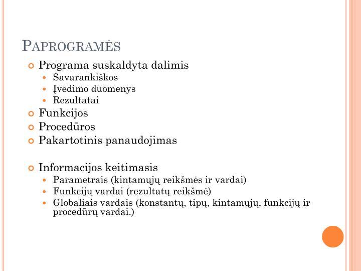 Paprogramės