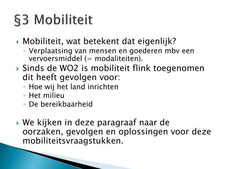 §3 Mobiliteit