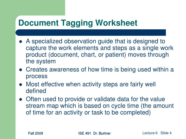 Document Tagging Worksheet