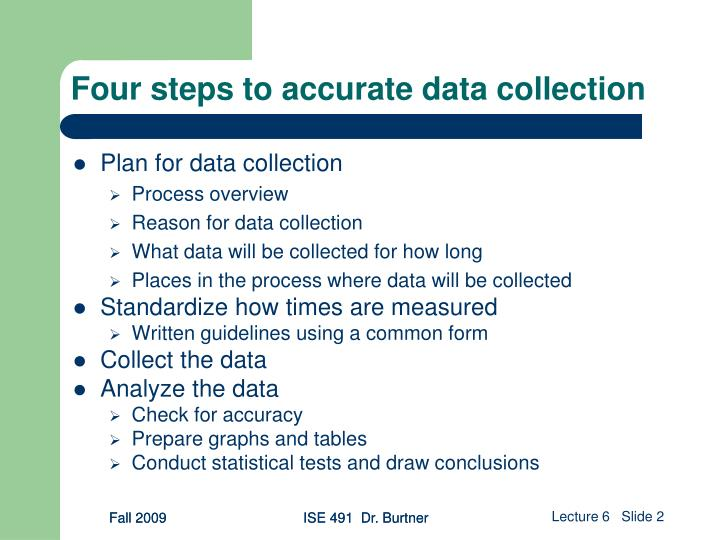 Four steps to accurate data collection