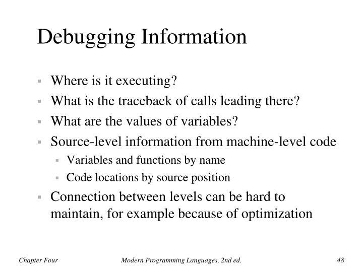 Debugging Information