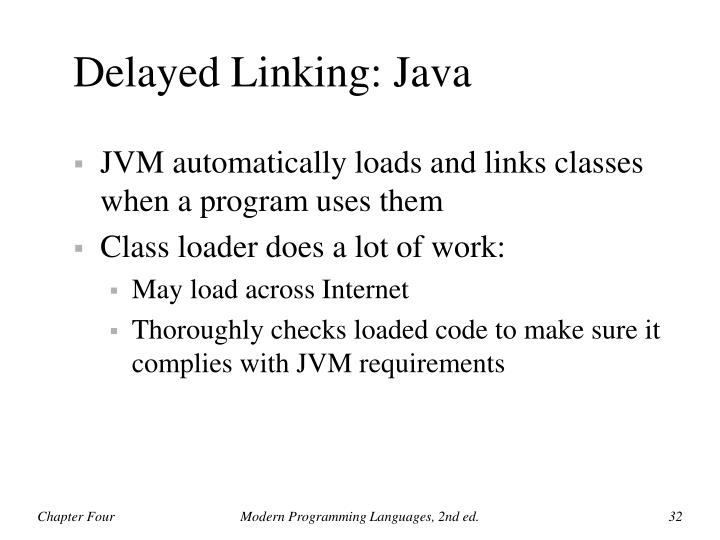 Delayed Linking: Java