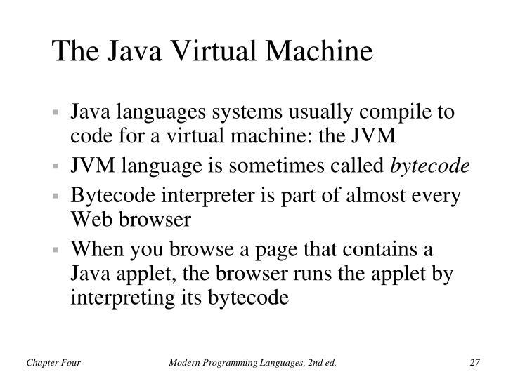 The Java Virtual Machine