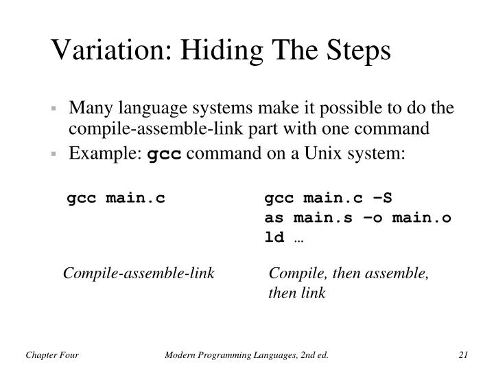Variation: Hiding The Steps