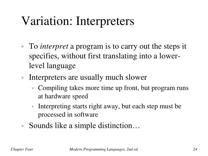 Variation: Interpreters